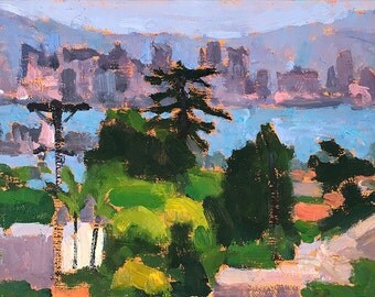 San Diego Skyline Landscape Painting- Point Loma