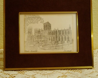 D. A. Heald signed print of York Minster
