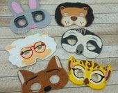 Sloth, mayor lamb, lion, fox, bunny, cheetah  set Embroidered felt play mask costume Zootopia fans flash officer judy hopps child size