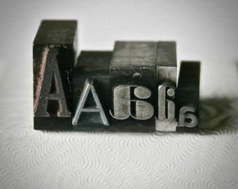 Five Pieces of Letterpress Type Choose Your Letter for Printing Stamping and Decor