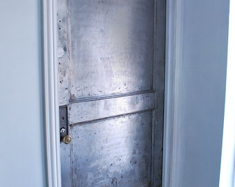 Two Panel Steel Fire Door Industrial Security Door