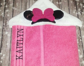 Custom Minnie Hooded Towel