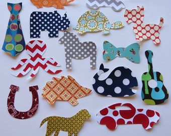 15 Assorted Baby Boy Iron On Appliques Sew On Appliques Baby Shower Activity
