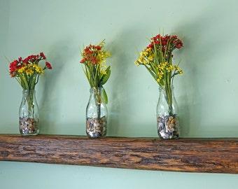 Reclaimed Wood Beam Floating Shelf