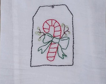 "Hand Embroidered  Floursack Dish Towel 30"" x 30"""