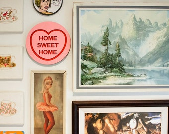 Home Sweet Home Candy Love Heart Wall Hanging.