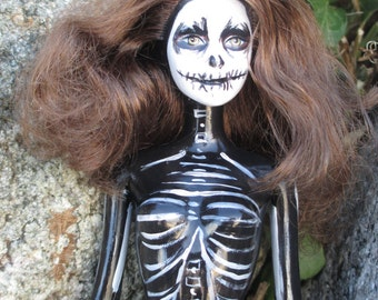 Skeleton Barbie Gothic Doll