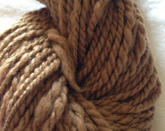 Tan Mixed Fiber Yarn Hand Spun - Sale Yarn worsted weight yarn