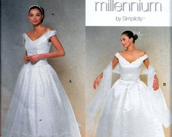 Simplicity 8834 Misses Wedding Bridal Gown, Evening Dress, Prom or Graduation Sewing Pattern Size 12, 14, 16 and 18