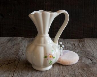 Vintage Ivory Floral Vase