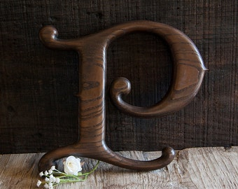 Vintage P Letter Sign Wall Hanging