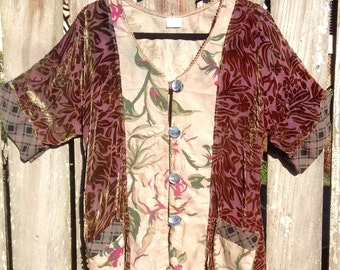 Rusty Rose Bark Cloth Jacket