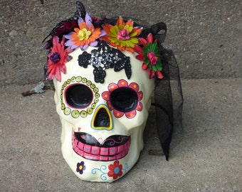 Sugar Skull  (Female)  8inch Tall