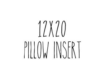 """12"""" x 20"""" Craft Pillow Insert Lumbar - Vegan Pillow Insert"""
