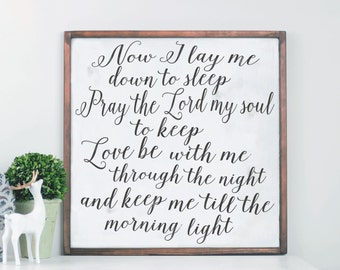 Child Prayer Wood Sign, Custom Colors, Rustic Sign, Art for Home, Cedar Sign, Nursery Wood Sign, Rustic Nursery, Decor for Nursery