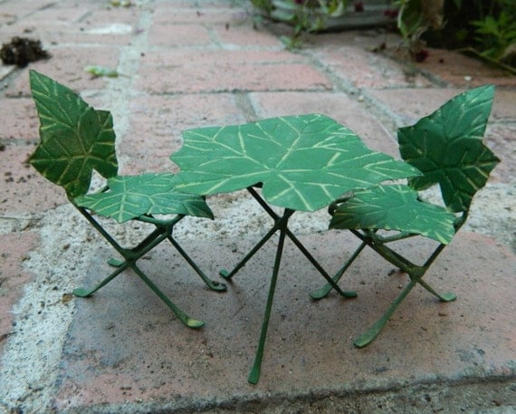 Hand Painted Garden Fairies Table And Chair Set