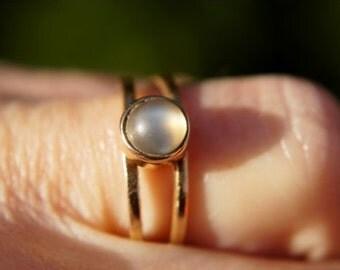 California Moonstone 14k Gold Ring