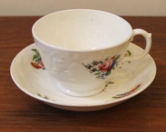 Antique Cup & Saucer, Porcelain, Victorian, English.