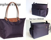 Taller Purse organizer Fits large Longchamp Le Pliage- Bag organizer insert in Dark Navy Blue