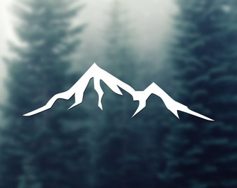 Mountains No.1 Vinyl Sticker car decal laptop car holidays hike travel andventure