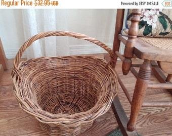 Vintage Large Wicker Flower Gathering Basket  Online Vintage, vintage clothing, home accents, vintage dress
