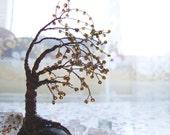 Tree of Life Sculpture, Wire Tree Decor, Copper Wire Tree Sculpture, Autumn Wire Tree of Life Decor