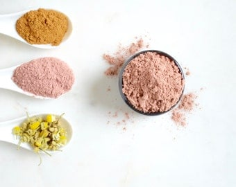 Red Clay Skin Conditioning  Face Mask; Handmade Face Cleanser; Skin Softening Mask, Red Pink Clay; Clay Exfoliator; Skin Lightening; Clay;