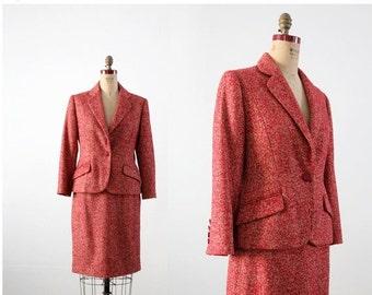 SALE vintage Bill Blass women's suit, tweed blazer and pencil skirt