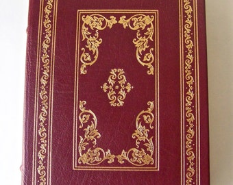 Vintage Paradise Lost - John Milton 22k Gold Accents Full Leather Bound Franklin Library Hardcover Book Printed 1981