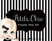 Petite Chic - Premade Etsy Shop Banner set and Business Card Design