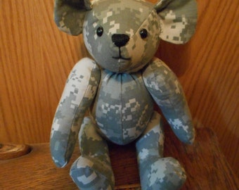 Teddy Bear, Army, Handcrafted