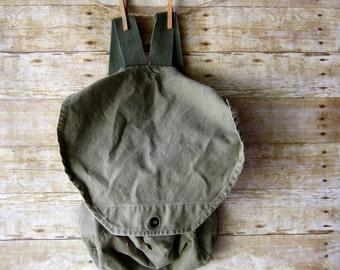 Vintage Canvas Rucksack - Backpack - Carry All - Military Trend Bag