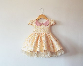 Gold Sparkle Celebration Dress with Petticoat 12-18 months