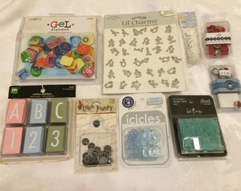 Lot of ALPHABET embellishments for Scrapbooking and Card Making projects