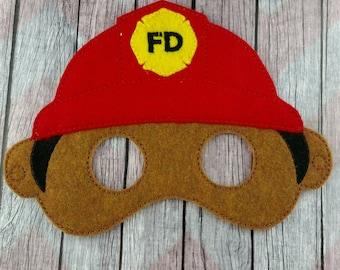 Fireman felt mask, everyday hero mask, children's mask