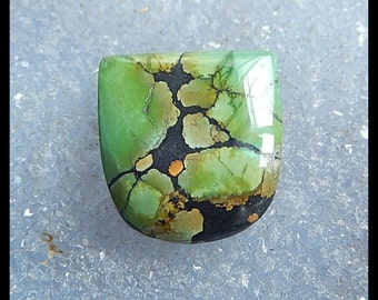 Gemstone Turquoise Pendant Bead,Cabochon(no drilling),22x20x7mm,6.2g
