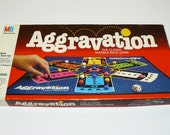 1989 Aggravation Board Game Milton Bradley The Original Marble Game Vintage