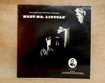 "MEET Mr. LINCOLN - An NBC ""Project 20"" Television Program - 1950's Vintage Vinyl Record Album"