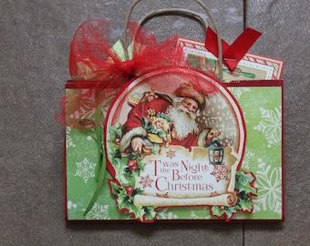 Christmas Red Handled Paper Bag Photo Album