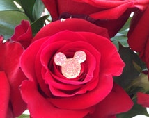 Disney Wedding Hidden Mickey Mouse Ears Flower Pins BLING BOUQUET for Brides and Bridesmaids