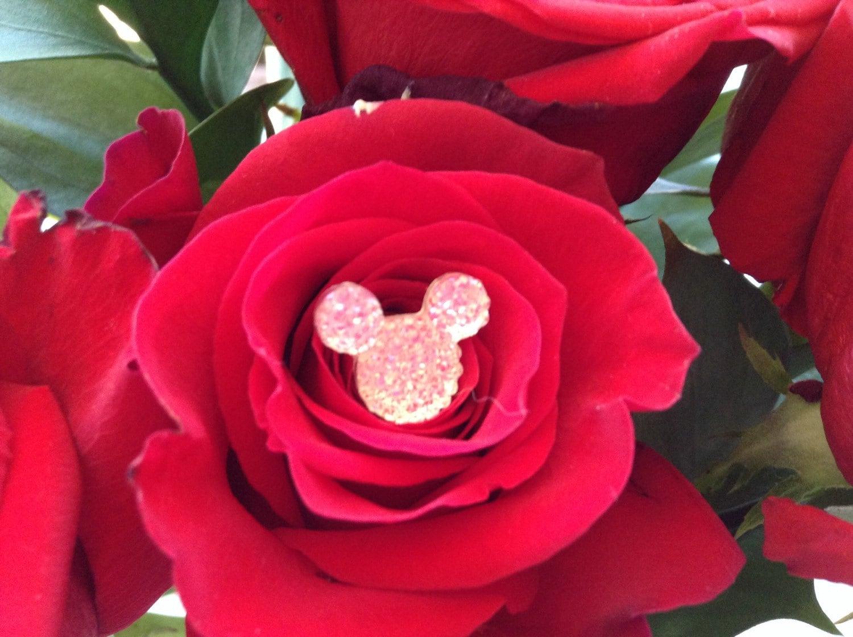 disney wedding hidden mickey mouse ears flower pins bling