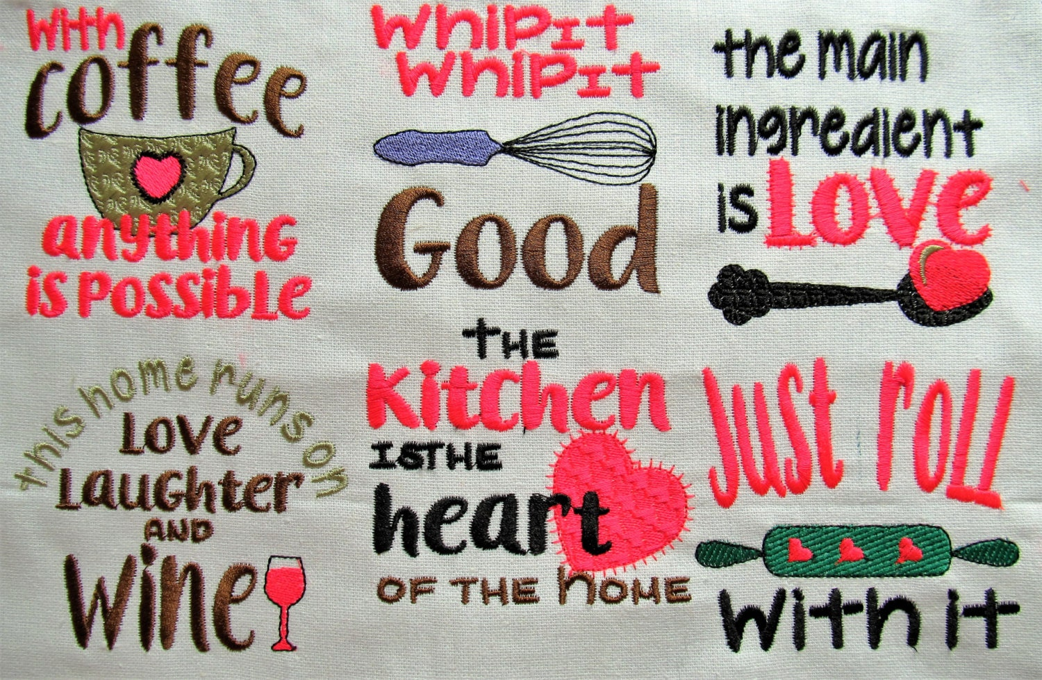 Cooking quotes machine embroidery designs instant