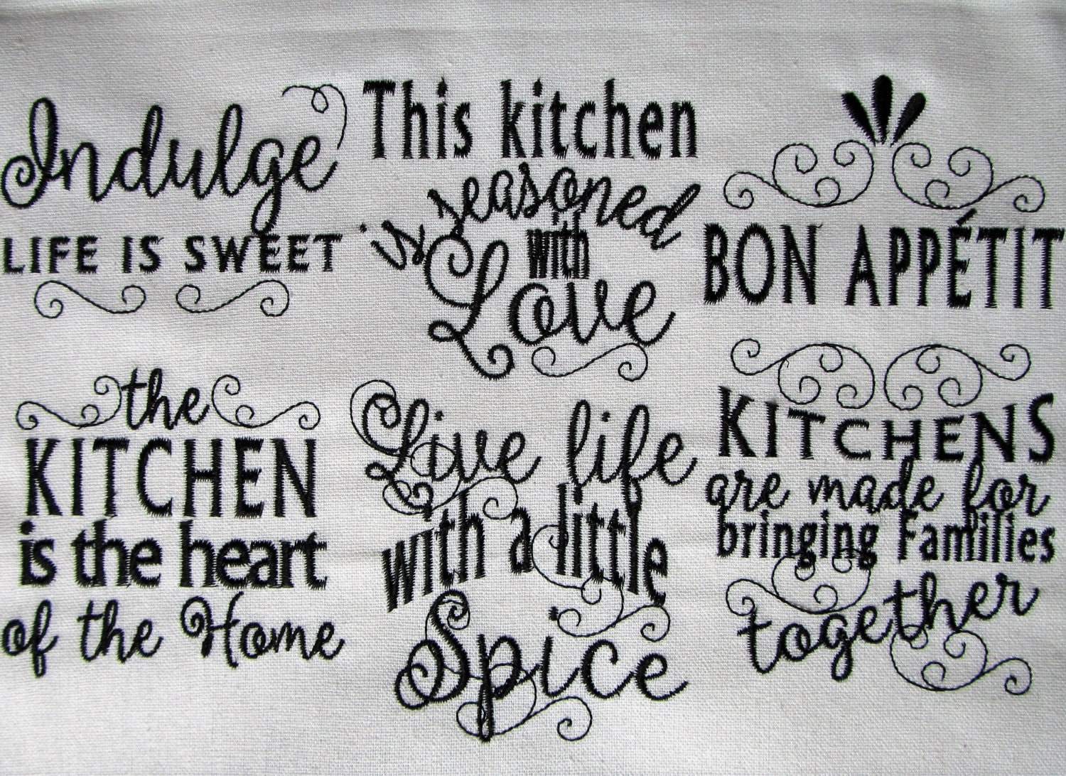 Kitchen lovely quotes machine embroidery designs 4x4 for Kitchen design quotes