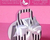 50% Off Printable wedding or party favors gift box ////// 001