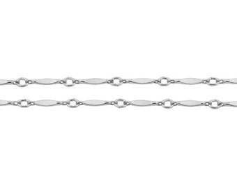 Sterling Silver 1.6mm Bar chain - 20ft Made in USA 40% discounted Strong and Sturdy (5354-20)/1