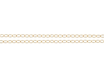 14Kt Gold Filled 2.2x1.3mm Cable Chain - 100ft (2320-100) Bulk Quantity Discounted Price