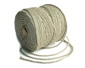 3 mm Linen Rope 1 Spool = 55 Yards = 50 Meters of Natural Linen Twisted Cord - Decorative Rope