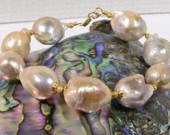 Kasumi Pearl Bracelet Irregular Pearl Birthstone June
