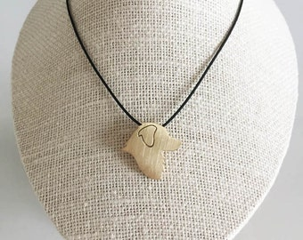 Australian Shepherd necklace, Australian Shepherd charm, Brass dog necklace, pet memorial gift