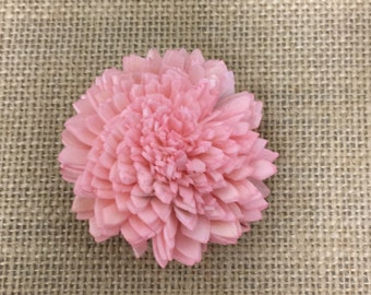 Cotton Candy Pink Zinnia sola flowers - set of 12